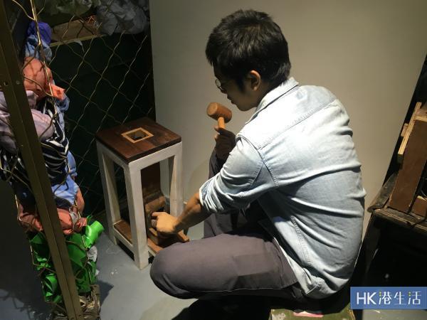 藝術迷宮內有「木碎好少年」的互動作品。