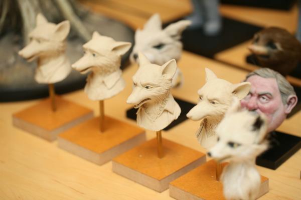 《狐狸先生無得頂》中的概念雕塑。