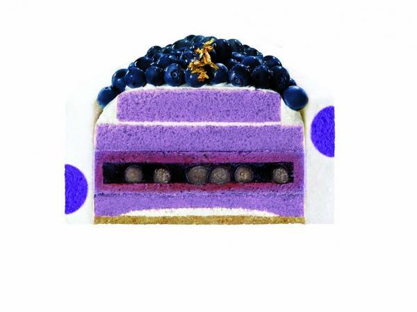 爆棚新鮮藍莓!美心藍莓山蛋糕