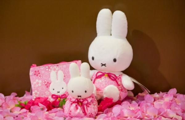 櫻花系列-Miffy 和風日式袋$129, Miffy 和風日式豆袋吉祥物$149, Miffy 和風日式公仔$259