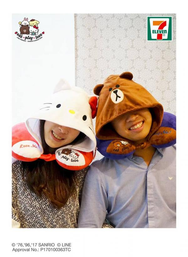 情人節暖笠笠!便利店換購Line Friends x Sanrio頸枕