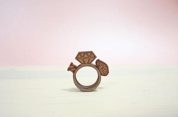 訂製愛情信物!限量木製戒指組合