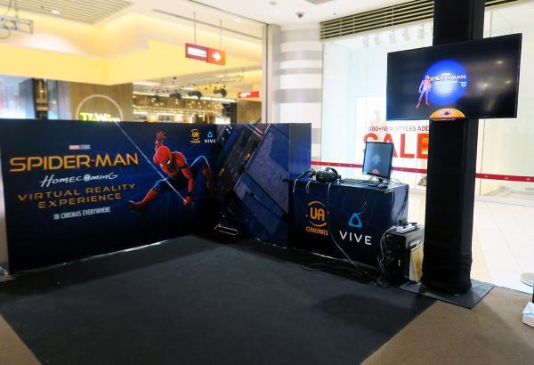 UA MEGA BOX十週年 試玩Spider-man VR遊戲
