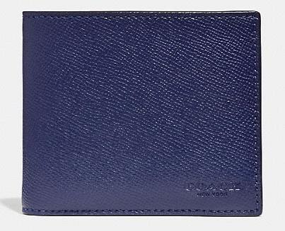 COACH Crossgrain Wallet 十字織紋皮革銀包半價