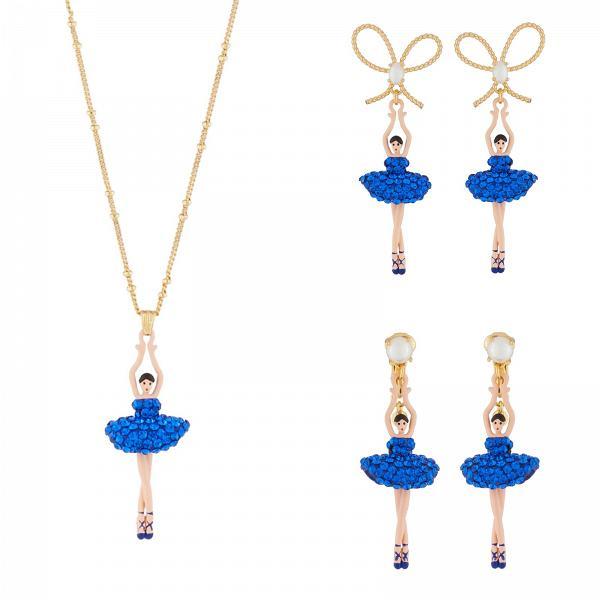 Les Néréides 芭蕾舞娃娃耳環及頸鏈套裝 (共兩款)