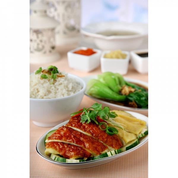 海南鴛鴦雞飯配時菜套餐  獨家優惠價︰HK$ 30