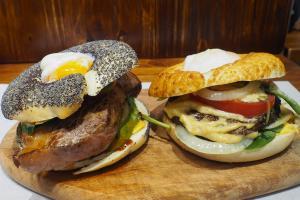 外國人氣Bagel Burger銅鑼灣有得食 大啡菇流心蛋口味有驚喜!