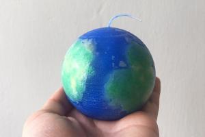 治癒燭光變禮物!自製水彩色香薰星球蠟燭