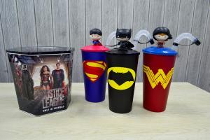將神奇女俠帶回家!戲院新推Q版「正義聯盟」造型水杯