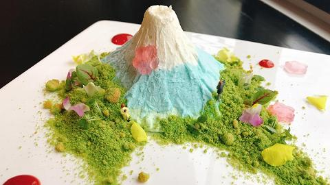 相機食先 夢幻噴煙富士山甜品