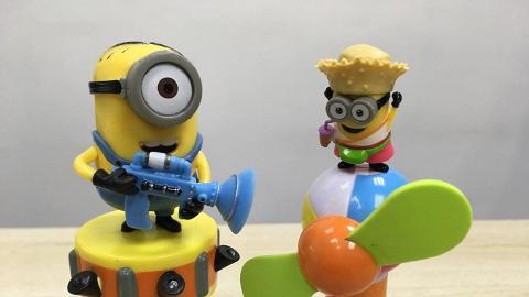 Minions臭屁聲玩具糖 風扇仔+發光臭屁槍聲