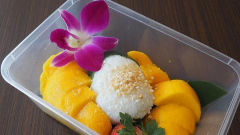 油麻地酒店買外賣!芒果糯米飯+足1磅重巨型泡芙蛋糕