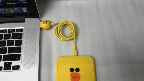 香港有得賣!Line Friends熊大/莎莉無線充電+頭像充電線