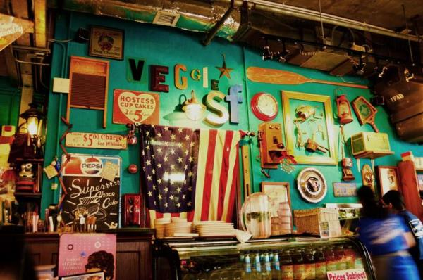 Veggie SF以五、六十年代的美國懷舊裝修