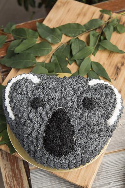 3D樹熊水果蛋糕  $350