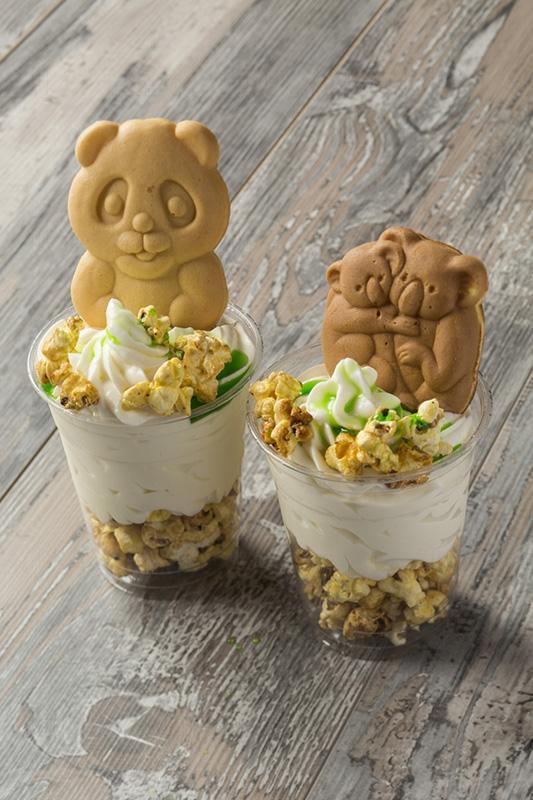 樹熊形狀的燒餅配合雪糕及爆谷 $55