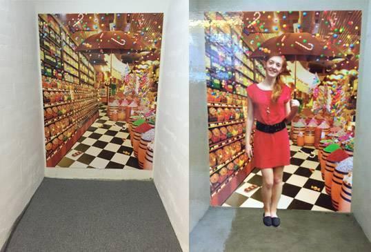 北角城市花園商場 城市金庫 3D畫 糖果店