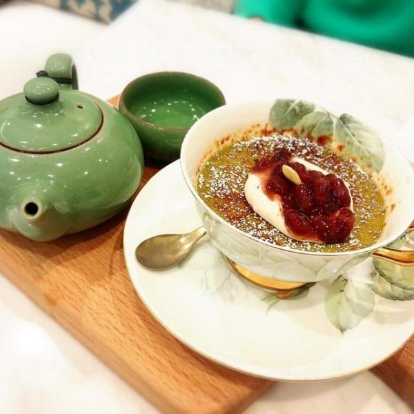 宇治抺茶燉蛋