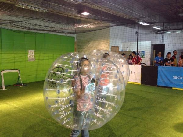 (圖: FB@Bubble Soccer Hong Kong)