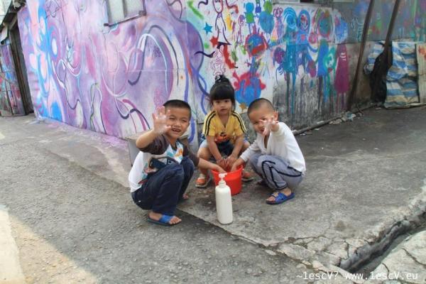 藍地大街 壁畫藝術圍村(圖:FB@藍地 lam tei mural)