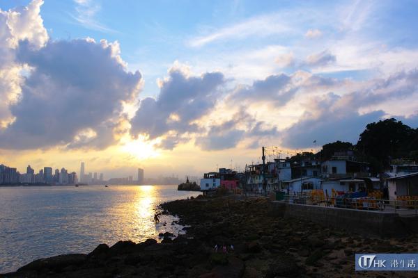 漁村日落美景