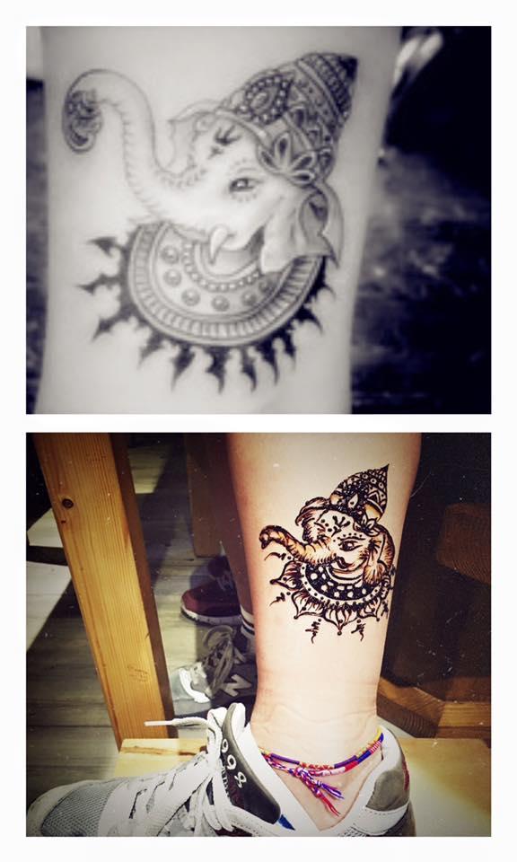 Henna手繪紋身 (圖:手繪紋身_長洲b&b FB專頁)