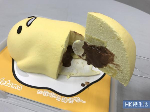 蛋黃哥訓住登場!朱古力軟心香蕉蛋糕