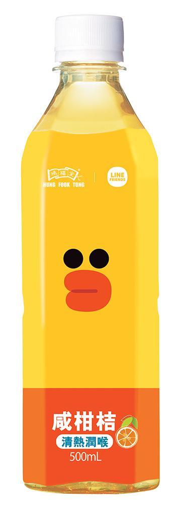 Line Friends x 鴻福堂限定版樽裝飲品即將登場 呆樣熊大最可愛!