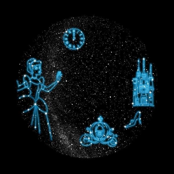 過萬粒星星投射浪漫星空!迪士尼公主滿天星夜燈