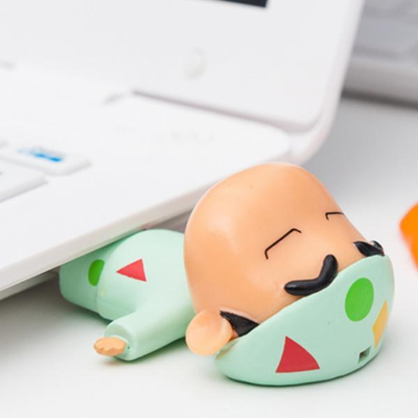 招牌睡衣+瞓覺樣!懶洋洋蠟筆小新USB登場