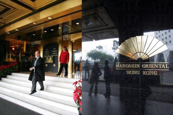 酒店正門甚有氣派。