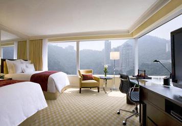 酒店內的雙人豪華客房。