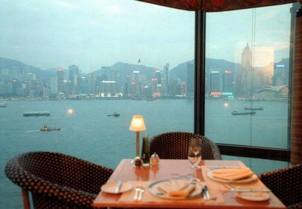 從酒店餐廳看出去的風景十分優美。