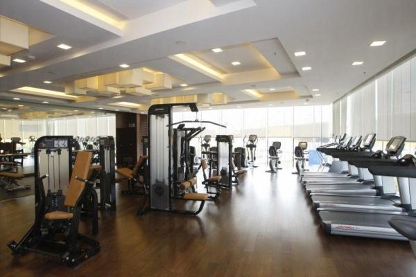 酒店內的健身室。
