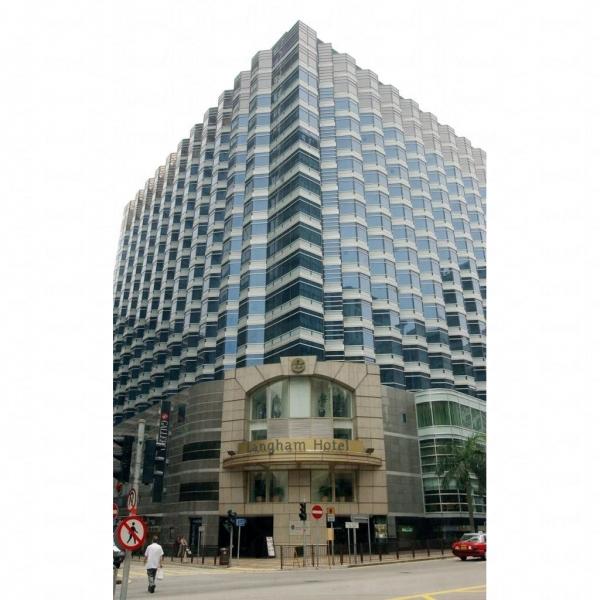 酒店外形呈階梯狀。