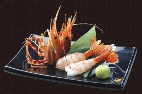 牡丹蝦 ( 兩食 ),$18。