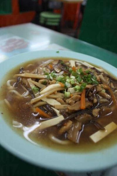 酸辣上海麵($18)。