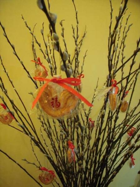 新年有銀柳蝴蝶酥供應,有得食有得看。