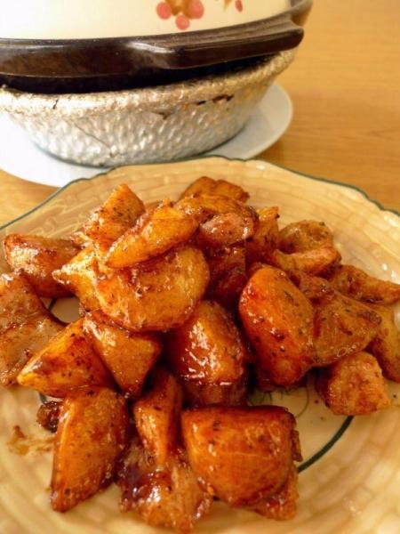 黑椒薯烤豬夾肉,惹味非常,$ 45。
