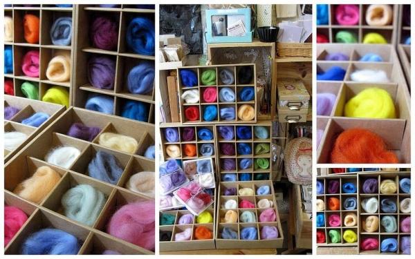 小店提供各類羊毛手作工具。