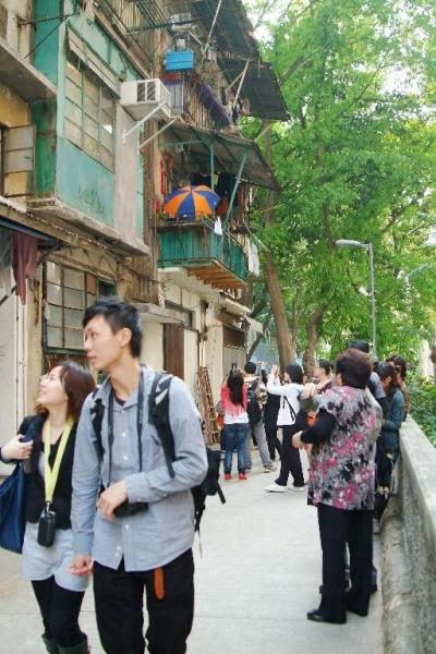 每逢周末都有不少遊人前來永利街。