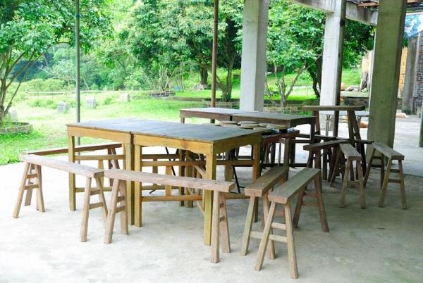 老闆可按食客要求,園內在不同地方設桌。