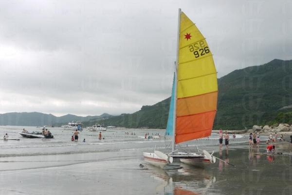 滑浪風帆可讓玩家感受到飛越水面的刺激。