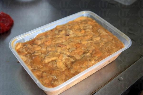 這是用來做海膽炒飯的海膽。