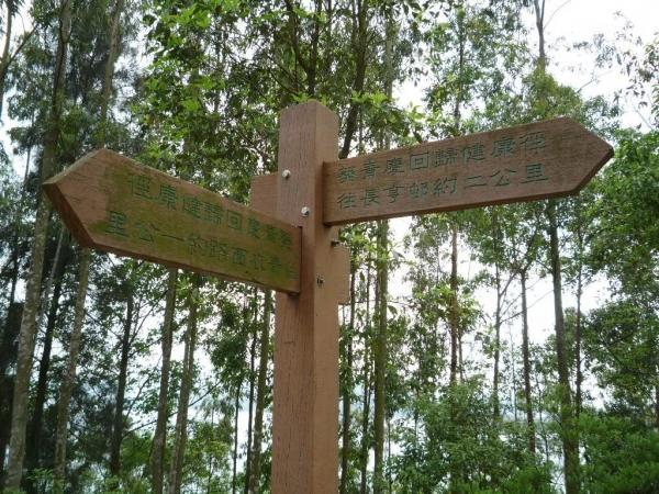 青衣自然徑沿途有指示牌,清晰地向行山人士表示方向與距離。(相片來源:Clara Lee)