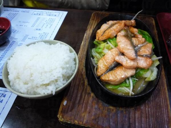 田中日本料理的鐵板三文魚扒配白飯味道甚佳。(相片來源:Clara Lee)