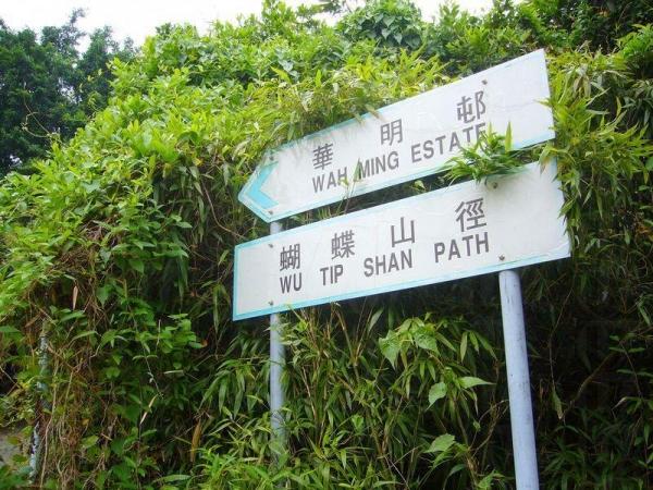 山徑有清楚的指示路標。