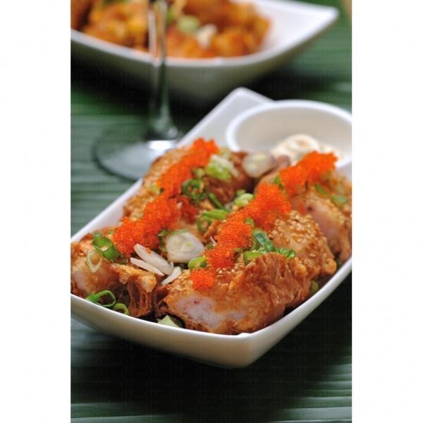 海南少爺的海鮮釀油條,油條香脆,配料香滑,口感獨別。