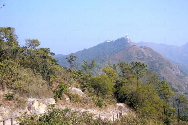 行山徑十分開揚,邊走邊呼吸新鮮空氣、欣賞山下的遠景。