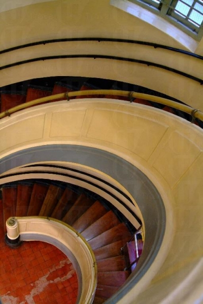 彎彎曲曲的愛德華式的長梯充滿特色。